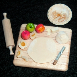 Apple or Peach Pie Prep Board - $48.00